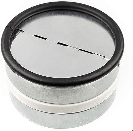 R/ückstauklappe 100 mm L/üftungsgitter Edelstahl Einschub in Abluftrohre
