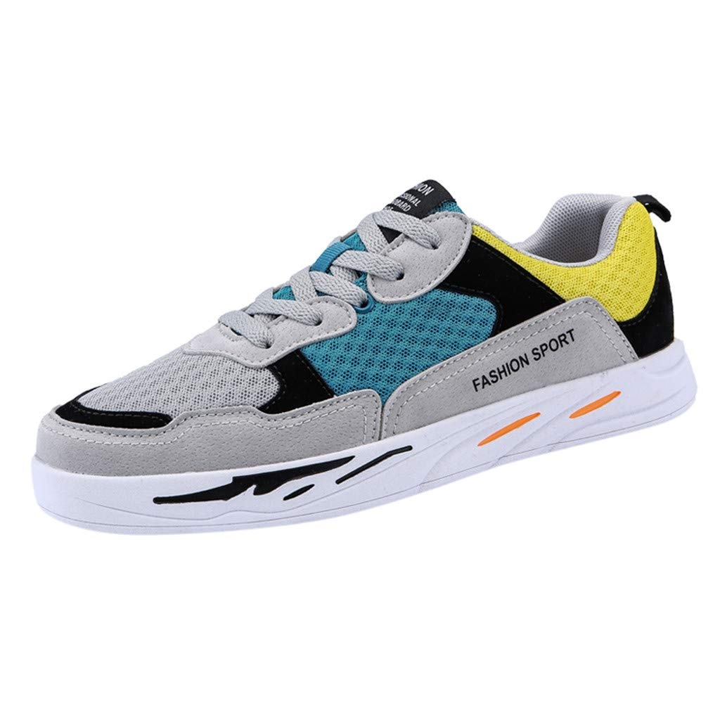 GINELO Couples Models Summer Fashion Air Cushion Sports Shoes Non-Slip Wear-Resistant Sneakers Breathable Shoes Grey