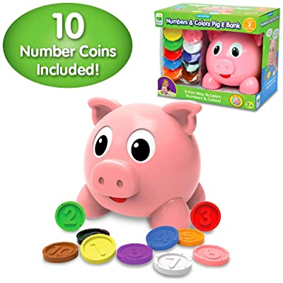 The Learning Journey Learn with Me - Numbers & Colors Pig E Bank - Color and Number STEM - Teaching Toddler Toys & Gifts for Boys & Girls Ages 2 Years and Up: Toys & Games