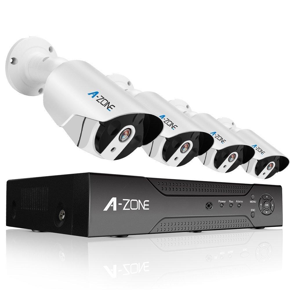 A-ZONE 200万画素タイプ POE給電カメラ 防犯カメラキット ネットワークカメラ hddレコーダー 暗視撮影 cctvセキュリティカメラシステム 監視カメラ ナイトビジョン 防水カメラ 動体検知録画(2000GB内蔵) 4ch ハイビョン HD NVRキット 屋内/屋外 クイックリモートアクセス 無料アプリ 遠隔監視対応 (2TB HDD 付き) B01MSMR1P0 200万画素 200万画素