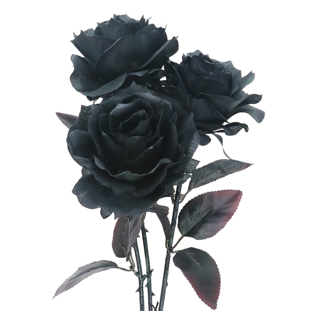 Mua Sn Phm Artificial Flowers24 Fake Silk Black Roses For