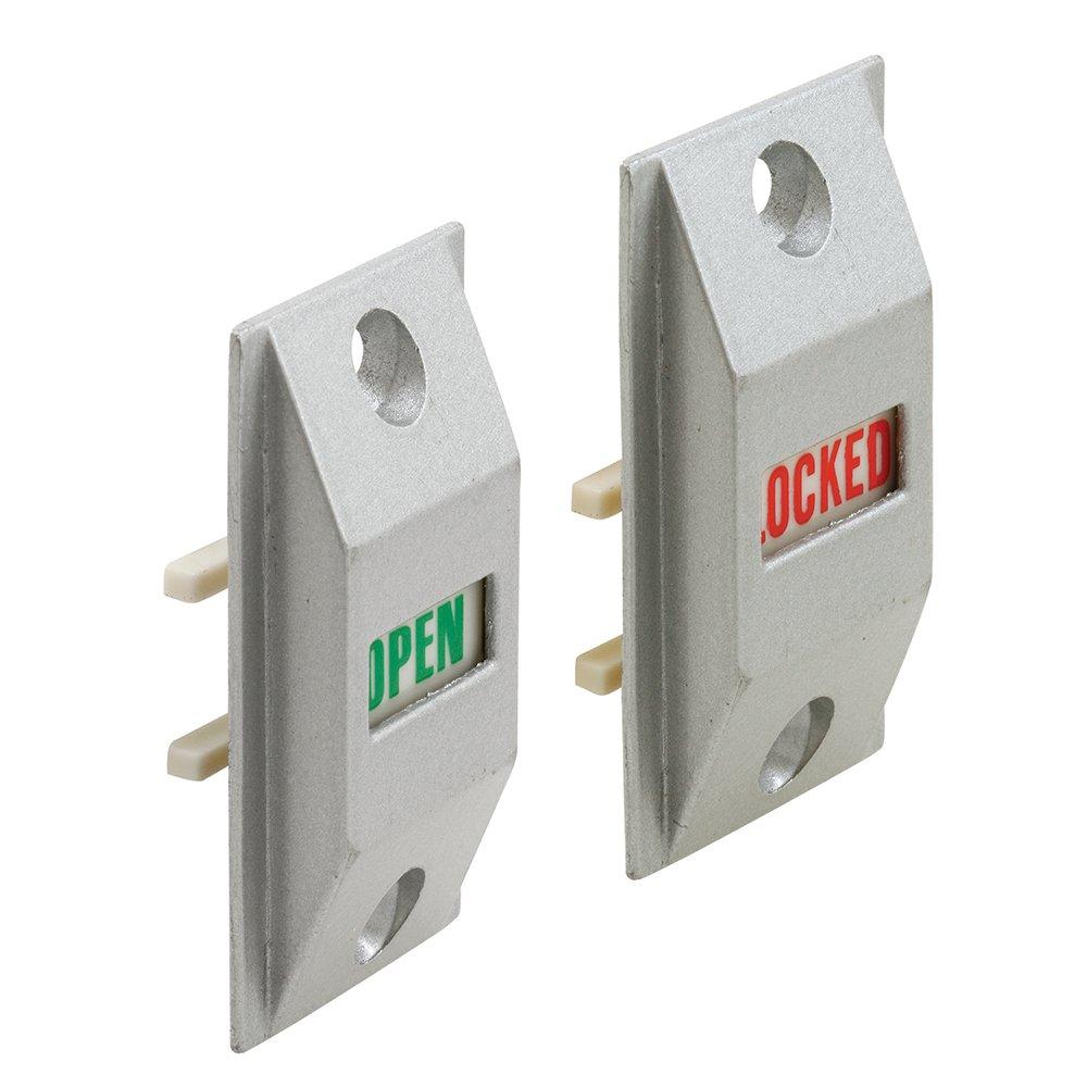 Prime-Line J 4528 Door Lock Indicator, Diecast Construction, Aluminum Finished, Pack of 1 Set
