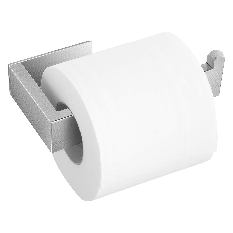 KYG Porta Carta Igienica 304 Acciaio Inox Autoadesivo Portarotolo Carta Igienica Senza Foratura per Bagno e Toilette