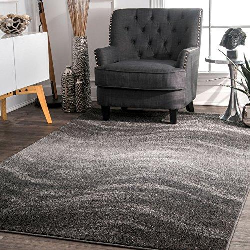 nuLOOM BDSM05A Contemporary Julene Area Rug, 4' x 6', Grey ()