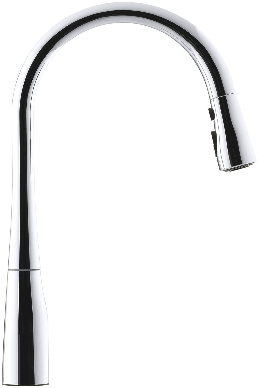 KOHLER K-596-VS Simplice Single-hole Pull-down Kitchen Faucet ...