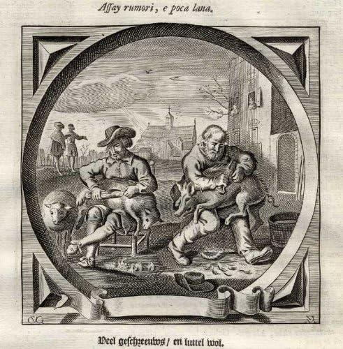 Antiguo ThePrintsCollector emblema de la sátira-Proverbio ...