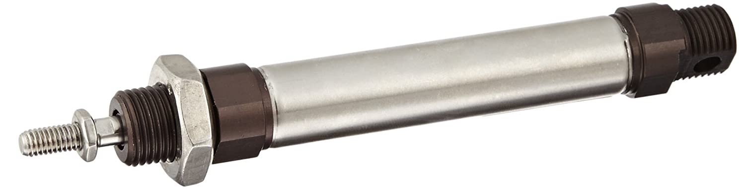 Universal 50 mm Stroke Double Acting Port Parker P1A-S016DS-0050 Stainless Steel Metric ISO Air Cylinder Cushioned 16 mm Bore 6 mm Rod OD Round Body