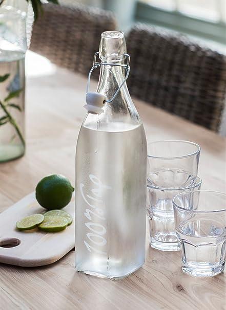 Cristal Botella De Agua Del Grifo Con Swing Top cerámica Top – 100% grifo