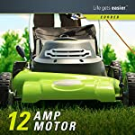 Greenworks g-max 40v 20-inch cordless 3-in-1 lawn mower with smart cut technology, (1) 4ah battery and charger included mo40l410 22 includes (1) max capacity 4 ah - 40v lithium battery , cutting heights - 5 position durable 20'' steel deck lets you mulch, bag, or side discharge allowing you to maintain your yard the way you want it. This lawn mower is not self-propelled innovative smart cut technology automatically increases the speed of the blade when more power is needed