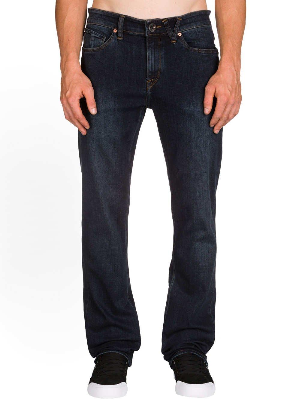 Volcom Men's Solver Modern Fit Denim Jeans, Vintage Blue, 36X34
