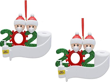 2020 Christmas Hanging Ornaments Family Personalized Ornament Santa Claus Xmas ~