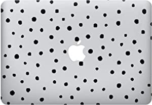 MarmoriAlbo Black Painted Polka Dot Abstract Art Hard Plastic Cover Case Shell for Apple MacBook 12 Air 11 13 Pro 13 15 16 Inch 2016 2017 2018 Retina Touch Bar