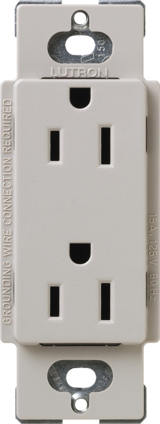 Lutron SCR-20-TP Satin Colors 20-Amp Receptacle, Taupe