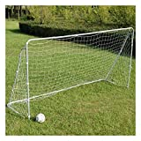New Soccer Goal 12' x 6' Football W/Net Straps, Anchor Ball Training Sets Outdoor Play