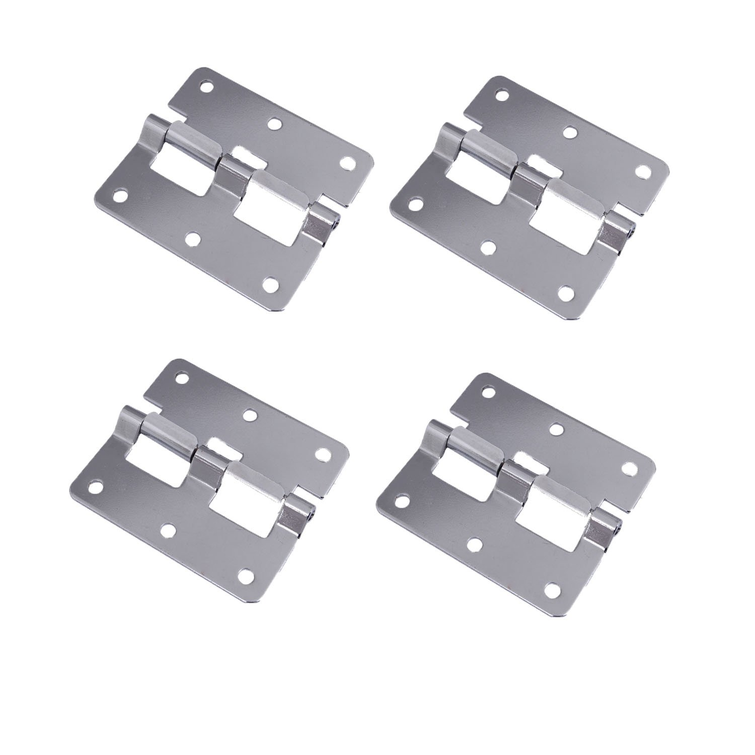 Antrader Take-Apart/Lift Off Hinge Door Hinges Chrome Flight Case Detachable Hinge Link 3'' x 2.68'' Pack of 4