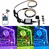 PC Case Light LED Strip Light RGBW Color Changing with Remote Control and Magnetic for Computer Case(2x 11.8inch)