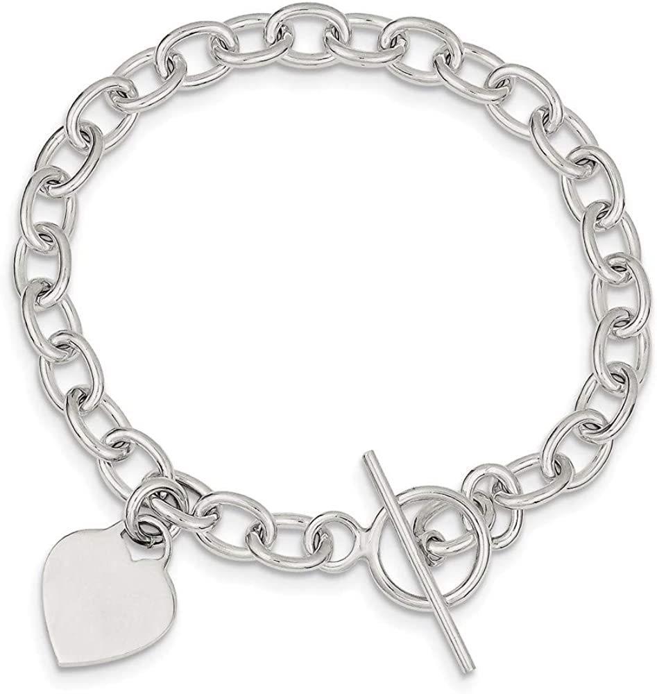B007BYK7ME 925 Sterling Silver Dangling Heart Charm Bracelet 7.25 Inch W/charm Fine Jewelry For Women Gifts For Her 616voy4KBpL.UL1000_