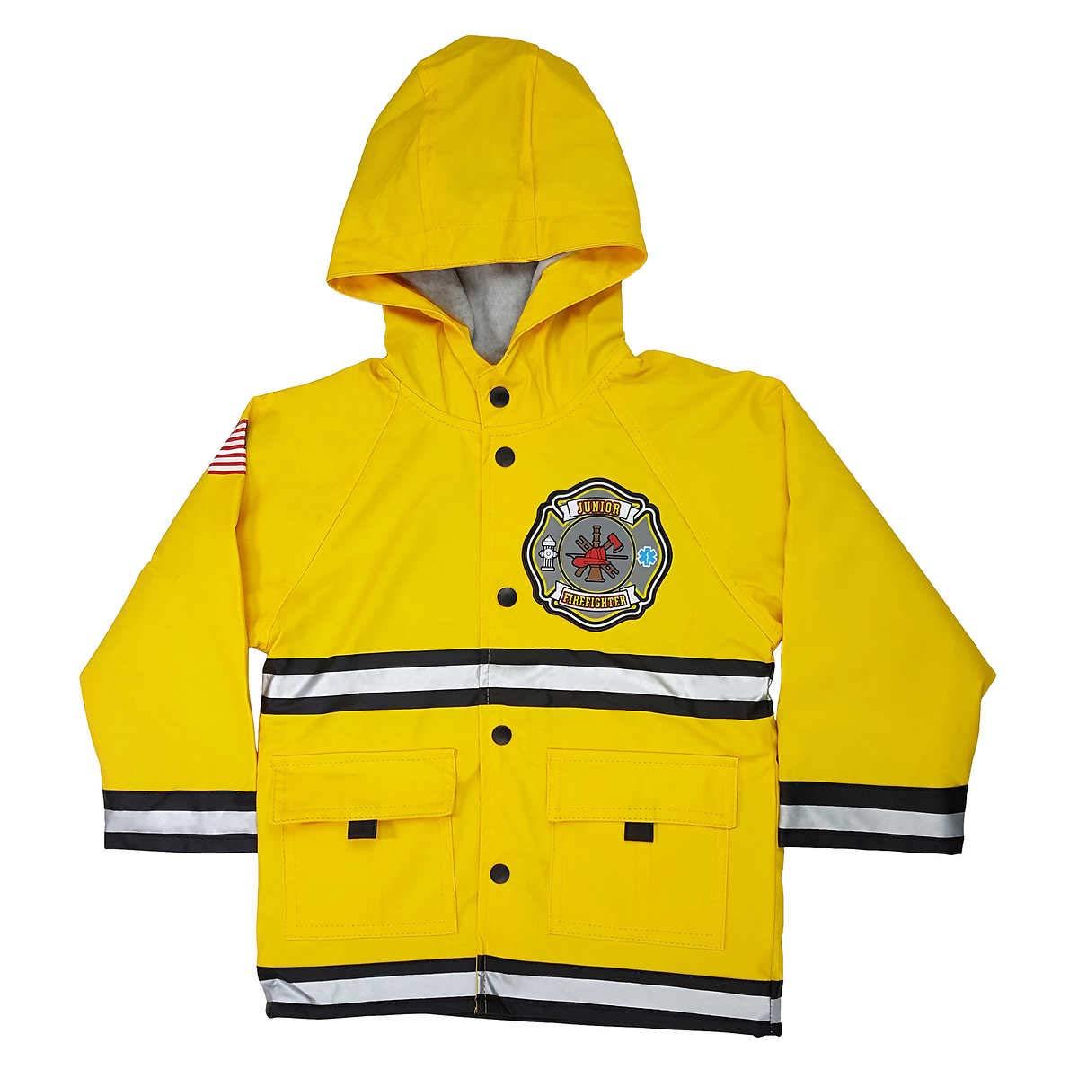 Western Chief Boys Junior Firefighter Rain Coat Bright Yellow 6