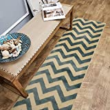 Maxy Home Pasha Chevron Multicolor 2 ft. 7 in. x 10 ft. Rug Runner