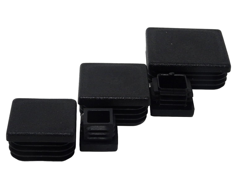 SBS Lot de 20/bouchons /à ailettes pour tube carr/é 20/x 20/mm Charge max Tube en plastique 50/x 50/mm Forme de bouchon de poteau Bouchon