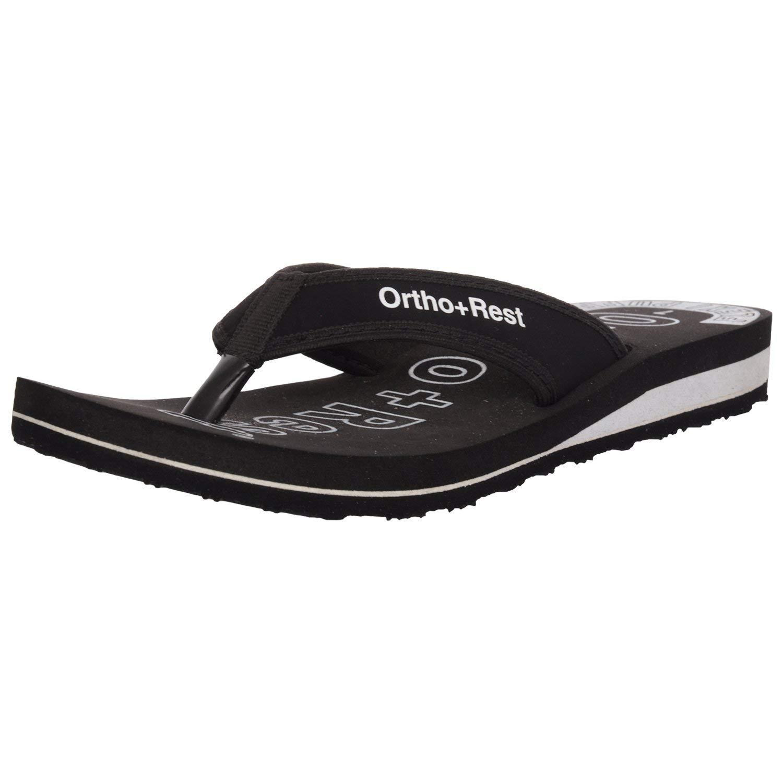 Ortho + Rest Women's Black Fashion Slippers-9 UK (42 EU) (L333BLACK9) (B07PDRD4S6) Amazon Price History, Amazon Price Tracker
