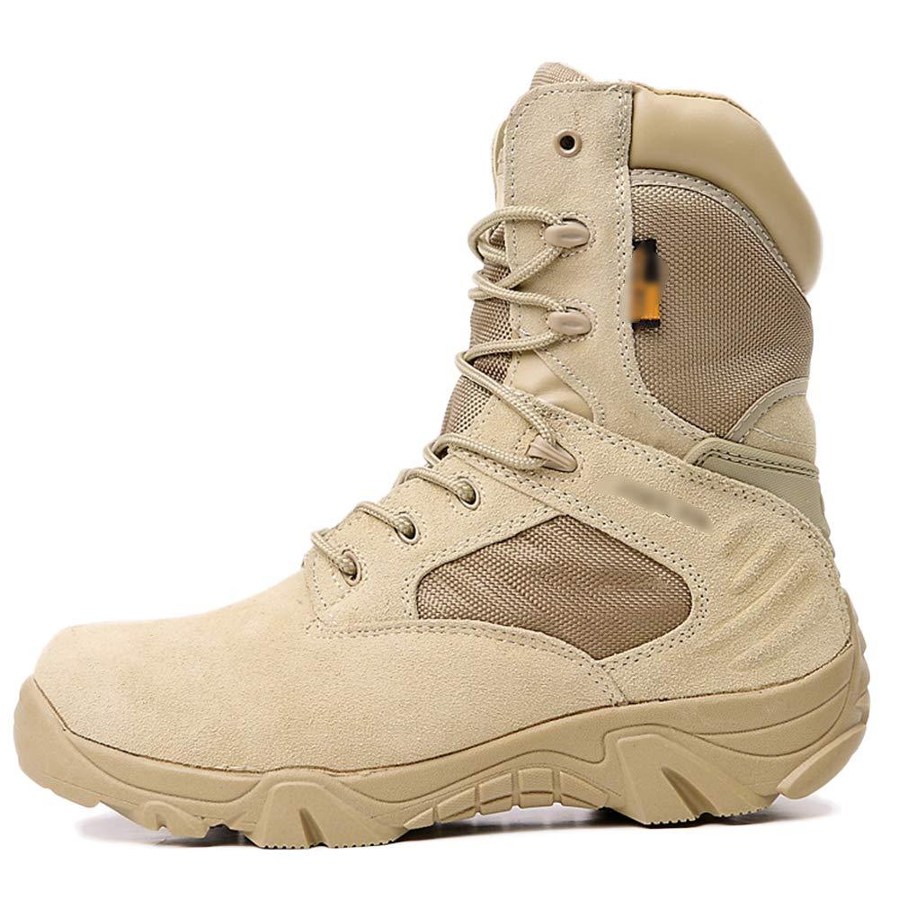 Botas Para Hombre Hombre Hombre Tactical Desert Patrol Botas Con Cordones Senderismo Al Aire Libre Botas Altas Del Ejército,Sandcolor-42 2b4223