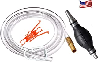 product image for Plumber's Siphon Pro - Gas, Oil, Water - Up to 3.5 Gl. Per Min. ONLY Siphon With Multi-size Tip Designed to Fit Any Hose.Comes with 9 ft. Hose. Brass Tip Weight or Extender – See Video in Pictures