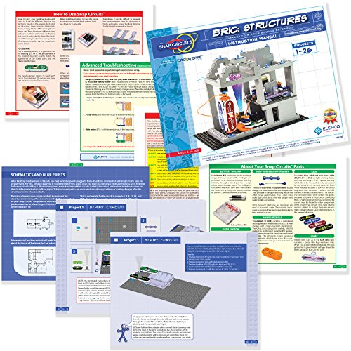 616vu1dqnSL - Snap Circuits BRIC: Structures ~ Brick and Electronics Exploration Kit | Over 20 STEM & Brick Projects | 4-Color Idea Book | 20 Snap Modules | 75 BRIC-2-SNAP Adapters | 140+ BRICs