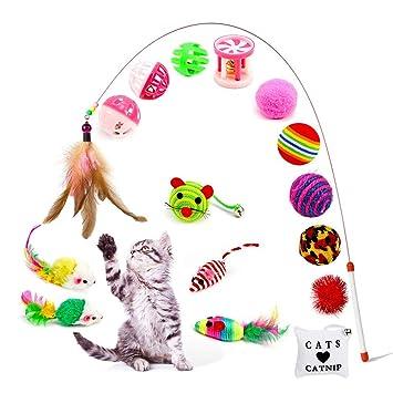 Amasawa 16 Piezas Juguetes para Gatos, Conjunto de ...