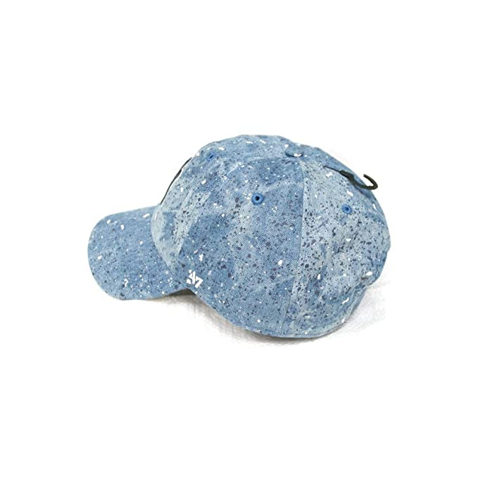 a496dbe2892  47 Brand New York Yankees Splat Clean Up Paint Splatter Denim Slouch Fit  Hat at Amazon Men s Clothing store