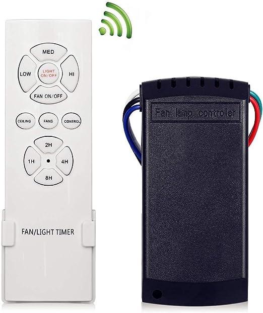 KNONEW Mando Universal para Ventilador de Techo, Control Remoto ...