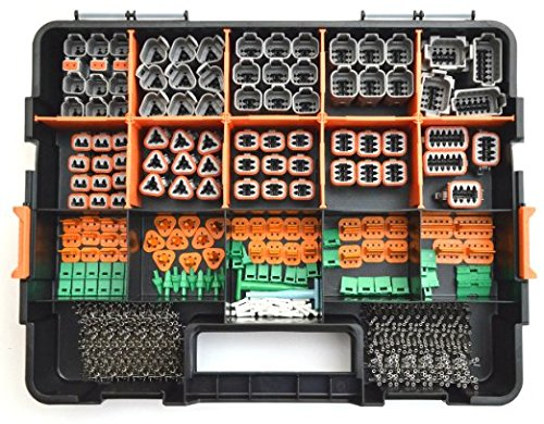 Oem Connector - DEUTSCH 518 PCS DT CONNECTOR KIT GRAY OEM 518 - STAMPED CONTACTS + TOOLS