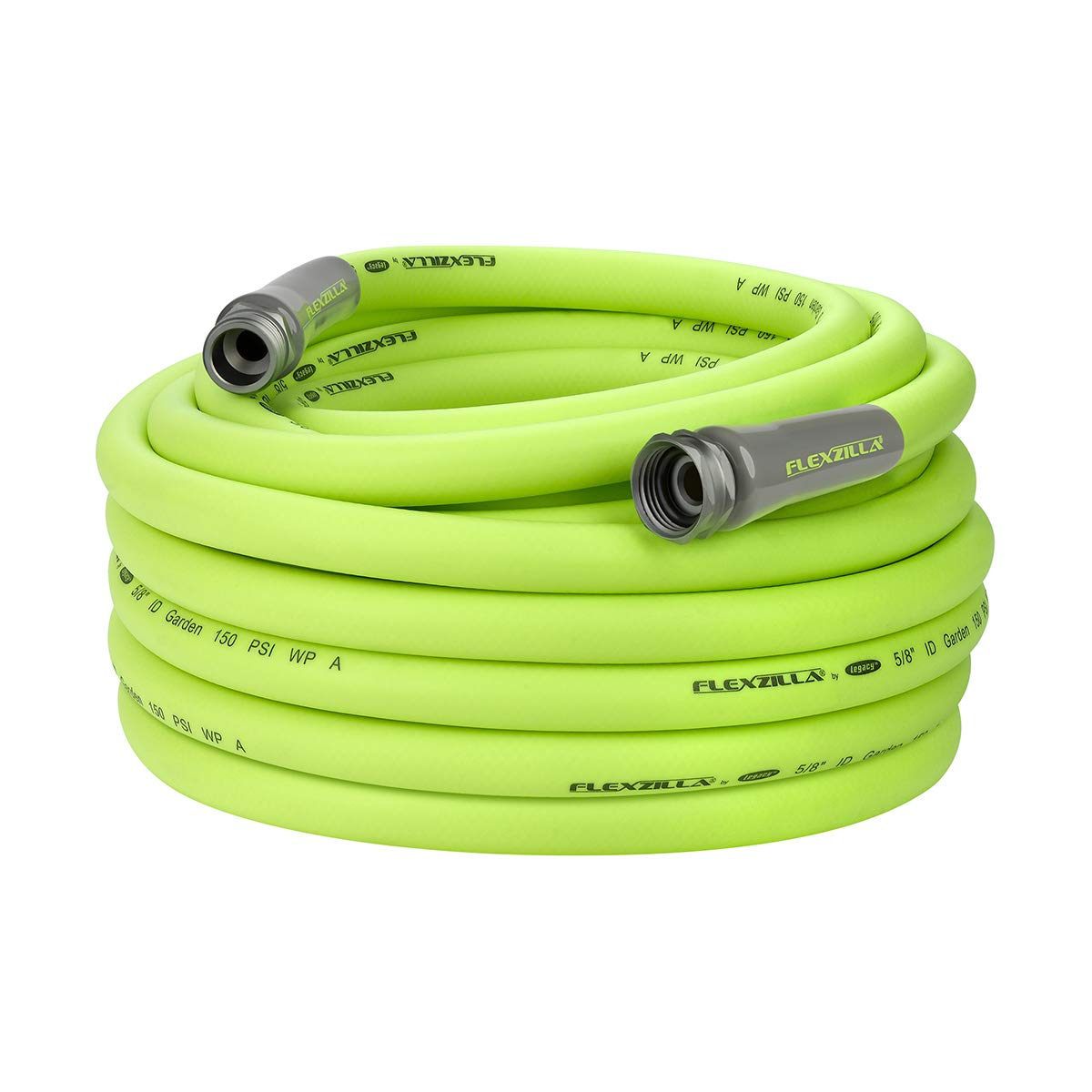 Flexzilla HFZG575YW-E Garden Lead-in Hose 5/8 in. x 75 ft, Heavy Duty, Lightweight, Drinking Water Safe, HFZG575YW