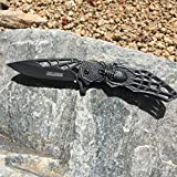 New! Tac-Force Black Queen Spider Web Titanium Coated Hunting, Camping, Outdoor Fantasy Folding Knife (TF-856SW) Wow! What a Beauty. Makes a Great Gift! (Black)