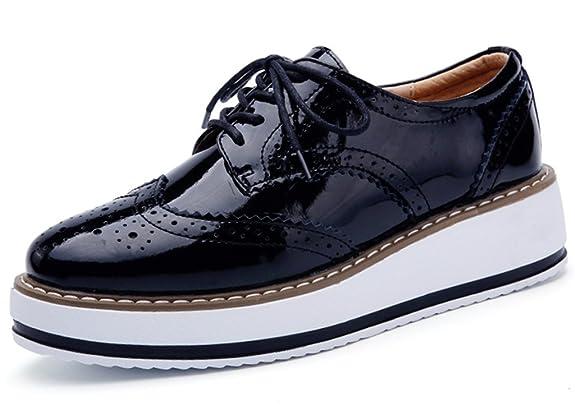 7cb4dfe9 zapatos oxford plataforma,Zanpa Mujer Moda Cordones Plataforma Oxford  Zapatos