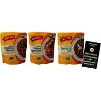 Tasty Bite Heat and Eat Indian Cuisine Microwave Meals | 3 Flavor Variety (1) each: Channa Masala, Jaipur Vegetables…