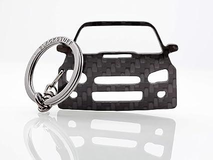 De fibra de carbono Llavero Anillo Holder Subaru Impreza Sti ...