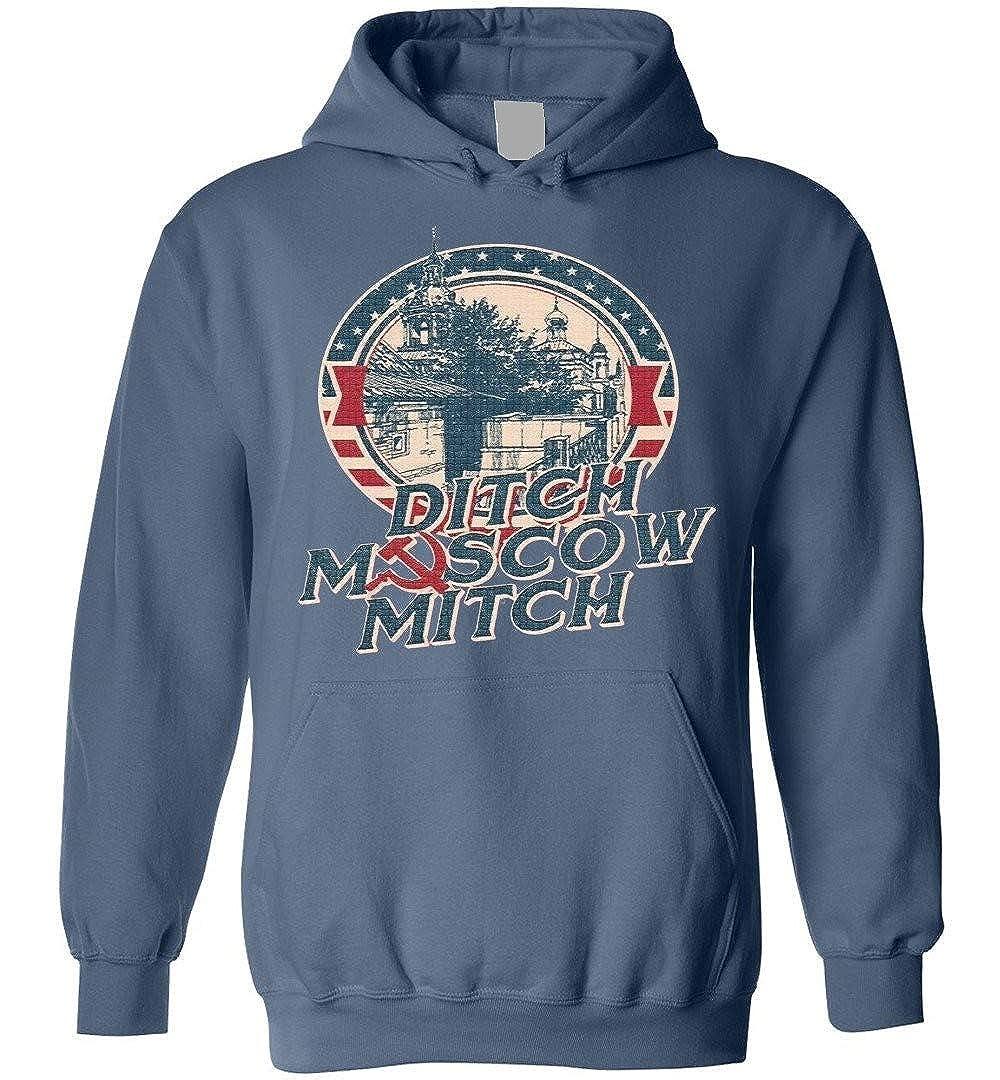 TSHIRTAMAZING Ditch Moscow Mitch Blend Hoodie Indigo Blue