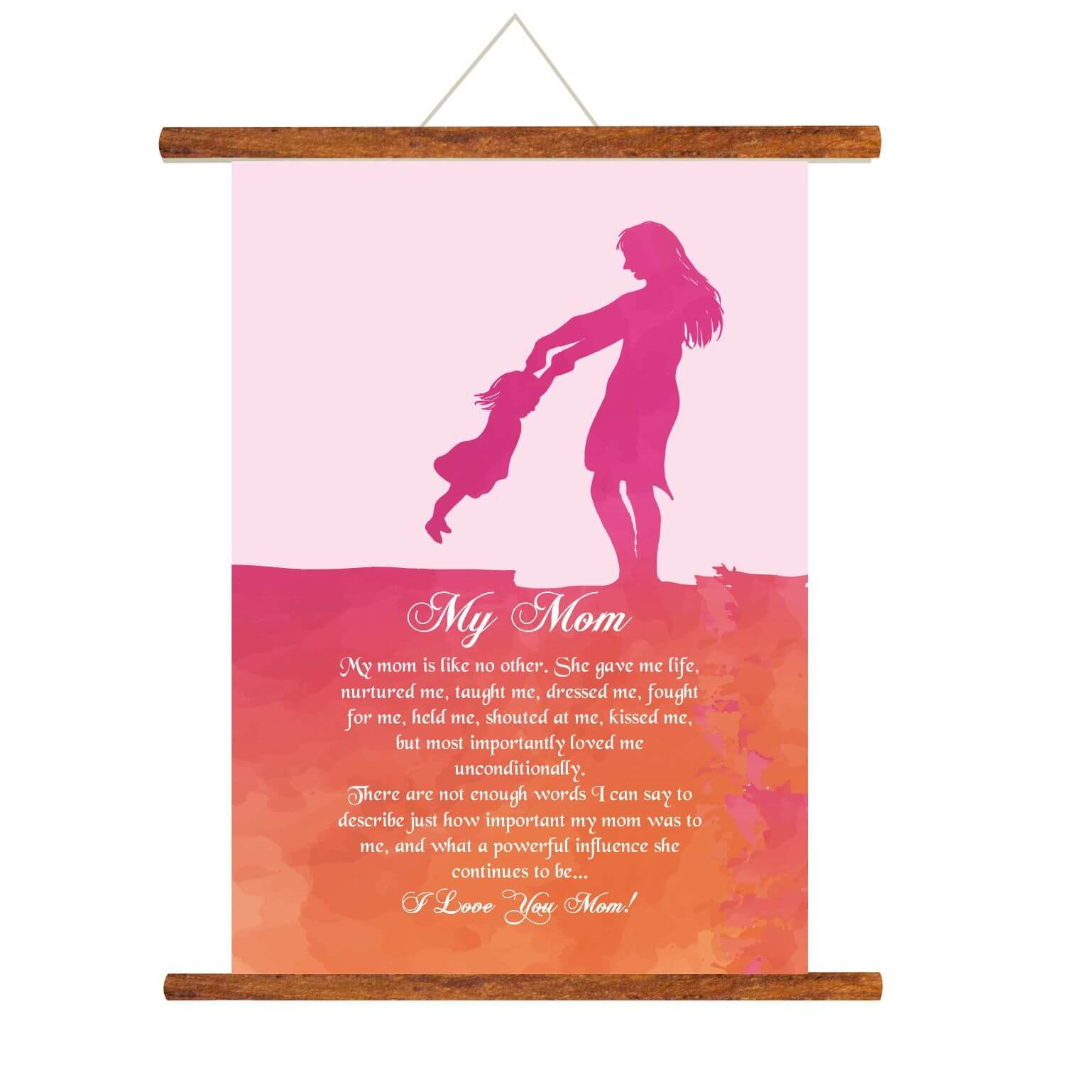 YaYa Cafe Mothers Day Gifts From Daughter Greeting Cards My Mom Scroll Card For Wall Hanging Decor