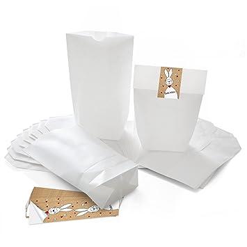 Pequeñas Bolsas de papel oste bolsas bolsas 16,5 x 26 x 6,6 cm +