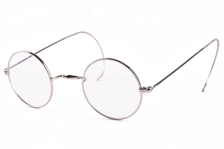 b368326a3e2a Agstum Retro Small Round Optical Rare Wire Rim Eyeglasses Frame (Gold