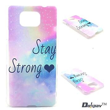 Dokpav® Carcasas de Samsung Galaxy Alpha SM-G850F Caso Case, Funda del Teléfono Celular Delgado y Elegante con Material de TPU Suave para Samsung ...