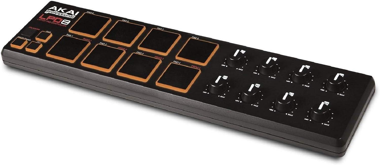 Akai Professional Lpd8 | Portable 8-Pad Usb Midi Pad Controller For Laptops