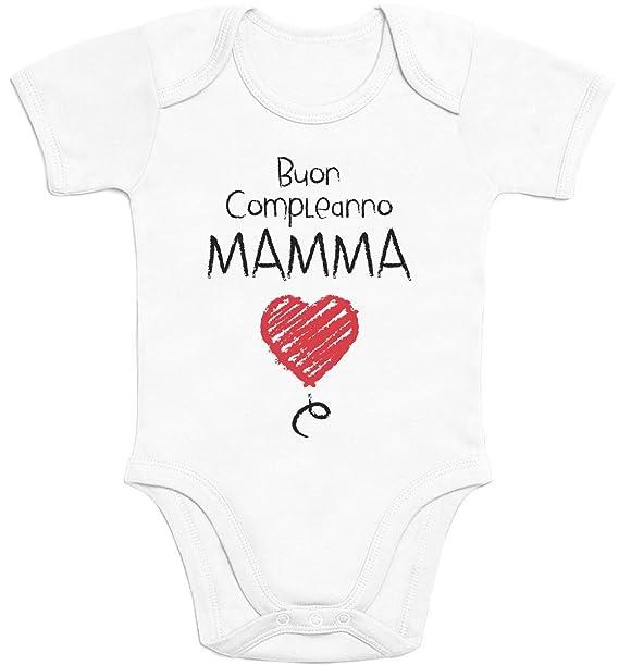 a617dda07fedbc Shirtgeil Buon Compleanno Mamma - Dolce e tenera Idea Regalo Body Neonato  Manica Corta: Amazon.it: Abbigliamento