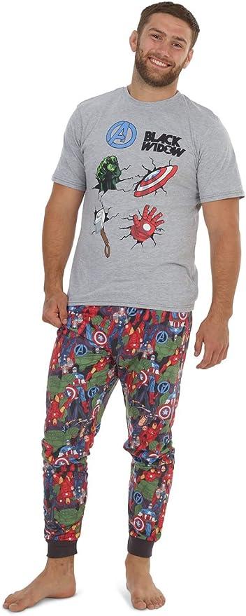 Marvel Conjunto de Pijamas para Hombres Black Widow | Ropa de ...
