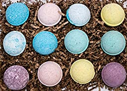 Double Gift Set, 12 Wholesale Mother\'s Day Bath Bombs from Enhance Me- Handmade with Organic Sustainable Palm Oil and Lush Shea Butter Organic Sustainable Palm Oil, \