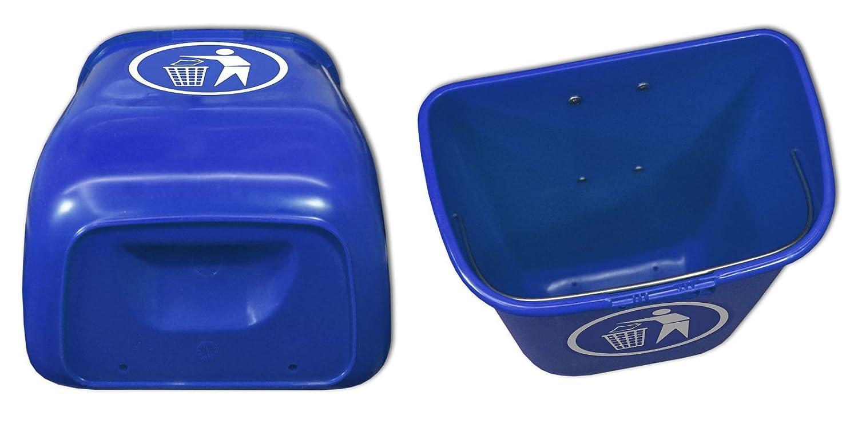 22326+22295+22296 Sulo-Set Papierkorb 50 Liter blau mit 2 Befestigungsschellen /& 1 Dreikantschl/üssel