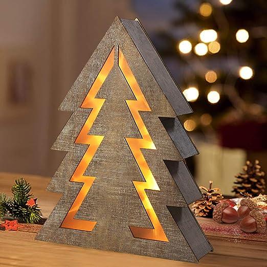 Amazon.com: Brillante Zeal de madera decorativo árbol de ...