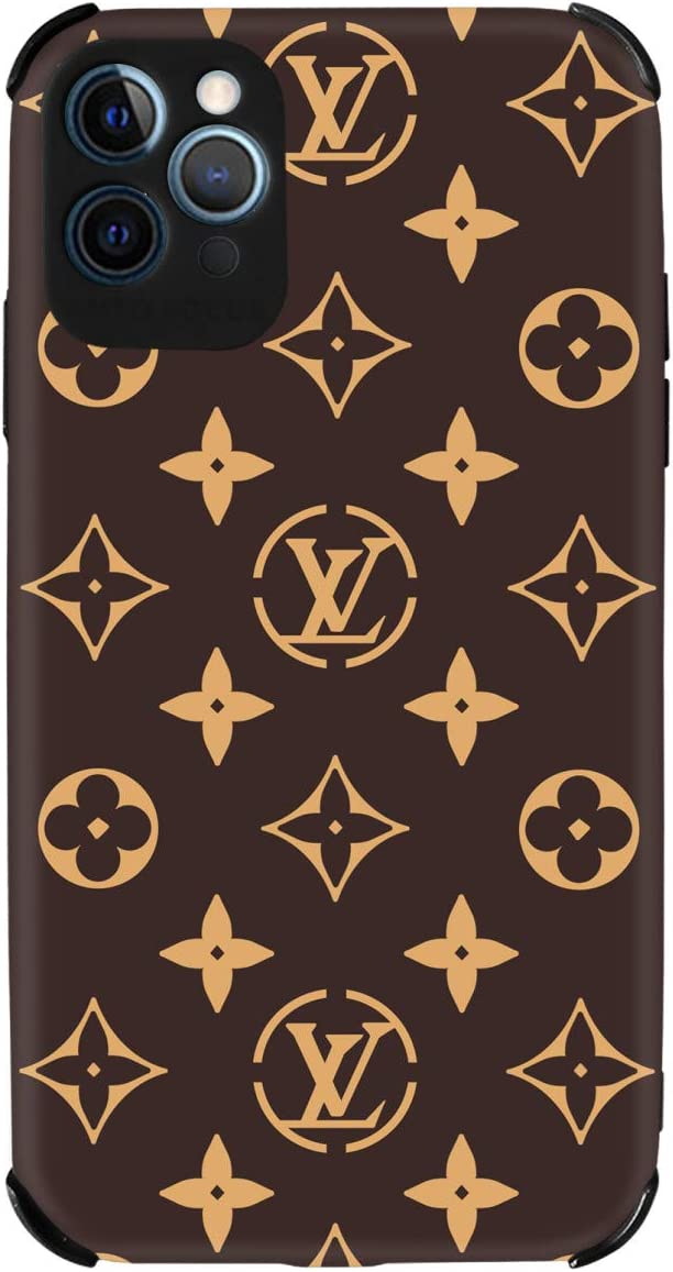 Luxury iPhone 12 Pro Max case for Women,Girls Slim Silicone Soft Flexible TPU Cover with Full HD+ Graphics for iPhone 12 Pro Max(6.7) (Brown)