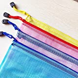 Zipper File Document Folder Bags Mesh Zippered